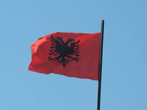 Magnífico Colorear Bandera De Albania Galería - Páginas Para ...