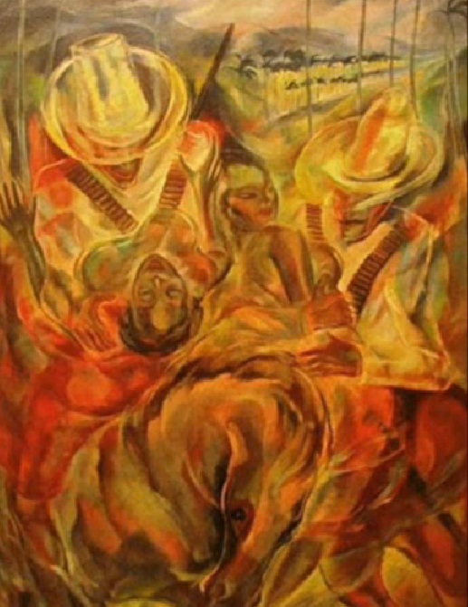El rapto de las mulatas. Obra del 1938 realizada por el pintor cubano Carlos Enríquez Gómez