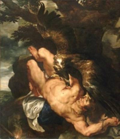 Pierre Paul Rubens y Frans Snyders, « El suplicio de Prometeo (detalle)1611-1612,  Philadelphia Museum of Art.