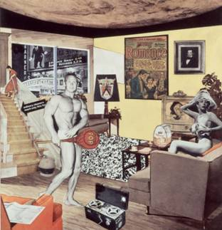 Just what is it that makes today's homes so different, so appealing? 1956/1992. Collage. 26 x 25 cm. Colección particular. © R. Hamilton. All Rights Reserved, VEGAP, Madrid, 2014