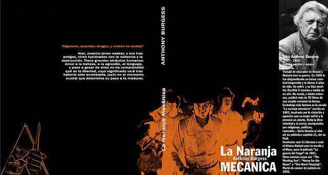 """Una de las portadas del libro en que se inspira la película """" A Clockwork Orange"""". Foto: Iradaska"""