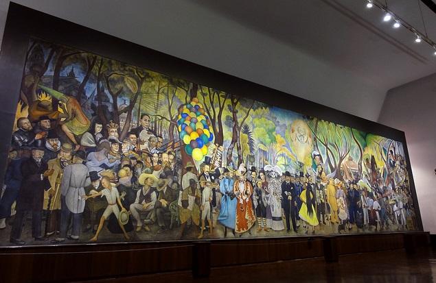 """""""Sueño de una tarde dominical"""",Museo Mural Diego Rivera,Alameda Central,México DF. Foto: Omar Bárcena."""