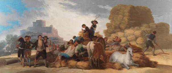 La Era. Francisco de Goya. Óleo sobre lienzo, 277 x 642 cm 1786. Madrid, Museo Nacional del Prado