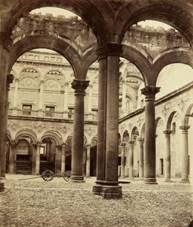 Tolède, Cour de l'Alcazar de Louis Léon Masson, 1865. BNF, EO-380-Boîte FOL A NQ-C-058205